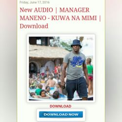 manager maneno - kuwa na mimi